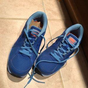 New blue Nike sneakers